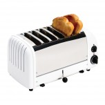 Dualit Toaster 6 Edelstahl + weiß