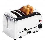 Dualit Toaster 4 Edelstahl + Chrom