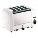 Dualit Toaster 4 Edelstahl + weiß