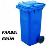 Abfalltonne mit zwei Rollen, 120 ltr., grün, HDPE