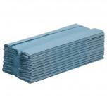 Jantex C-gefaltete Handtücher blau 1-lagig