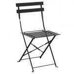 Bolero klappbare Stahlstühle schwarz