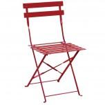 Bolero klappbare Stahlstühle rot