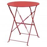 Bolero klappbarer Stahltisch rund 60cm rot