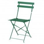 Bolero Terassenstühle aus Stahl dunkelgrün