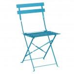 Bolero Terassenstühle aus Stahl azurblau