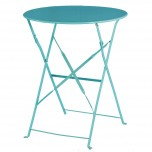 Bolero azurblauer Terassentisch aus Stahl