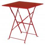 Bolero roter Terassentisch aus Stahl viereckig