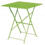 Bolero hellgrüner Terassentisch aus Stahl viereckig