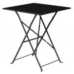 Bolero schwarzer Terassentisch aus Stahl viereckig