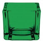 Olympia Teelichthalter aus Glas quadratisch grün