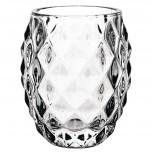 Olympia Diamant Teelichthalter aus Glas klar