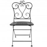 Bolero klassische Stahlstühle klappbar schwarz - 2 Stück