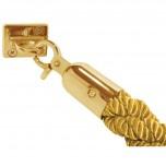 Bolero gedrehte Absperrkordel Gold-Messing