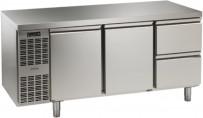 Tiefkühltisch, steckerfertig, 2 Türen, 2 Schubladen 1/2 Korpushöhe: 650 mm, Tiefe: 700 mm