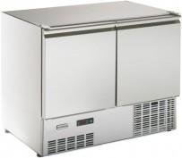 Kühltisch, 2 Türen, ohne Arbeitsplatte steckerfertig, Korpushöhe: 800 mm, Tiefe: 700 mm passend für GN 1/1