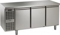 Tiefkühltisch, steckerfertig, 3 Türen Korpushöhe: 650 mm, Tiefe: 700 mm