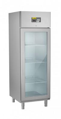 Umluft-Gewerbetiefkühlschrank, steckerfertig, für GN 2/1, mit Glastür