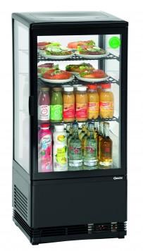 Mini-Kühlvitrine 78L, schwarz