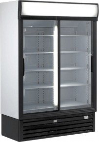 Glasschiebetüren-Kühlschrank SLDG 1000 - Esta