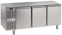 Kühltisch, 3 Abteile, steckerfertig, 3 Türen Korpushöhe: 650 mm, Tiefe: 700 mm