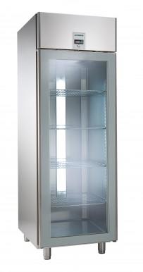 Umluft-Gewerbetiefkühlschrank, für GN 2/1, zentralgekühlt, mit Glastür