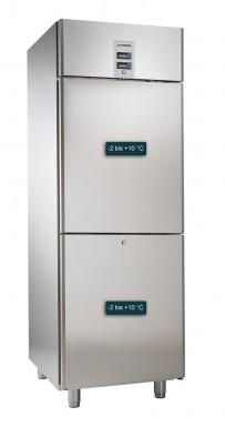 Umluft-Gewerbekühlschrank, für GN 2/1, mit 2 getrennt regelbaren Kühlabteilen