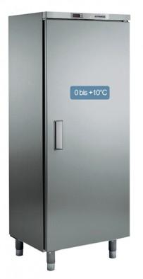 Umluft-Gewerbekühlschrank, in CHR, mit Volltür, für EN-Bleche 600 x 400 mm