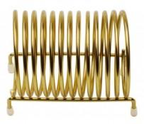 Bonhalter Spirale, 12 x 8 x 8 cm, vermessingt