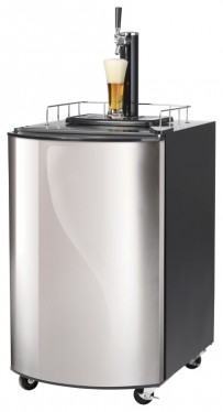 Bierkühler, 815x515x665mm, 128 Liter, Edelstahltür,