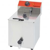 Fritteuse mit Ablasshahn CATERINA, 8 Liter, 400 Volt, Abmessung 270 x 410 x 410 mm (BxTxH)