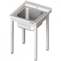 Spültisch ohne Grundboden 600x600x850 mm, mit einem Becken mit Aufkantung, Selbstmontage