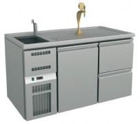 Ausschanktheke 1565x700x900 mm, Umluftkühlung, 1 Tür für