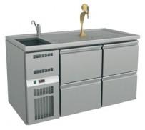 Ausschanktheke 1565x700x900 mm, Umluftkühlung, 500 W,