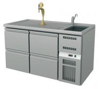 Ausschanktheke, 1565x700x900 mm, Umluftkühlung,