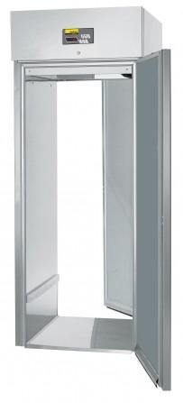 Durchfahrtiefkühlschrank, steckerfertig, für Hordenwagen GN 2/1, GN 1/1 oder EN 600 x 400 mm, EN 600 x 800 mm