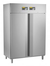 Umluft-Gewerbekühlschrank, steckerfertig, für GN 2/1, mit 2 getrennt regelbaren Kühlabteilen