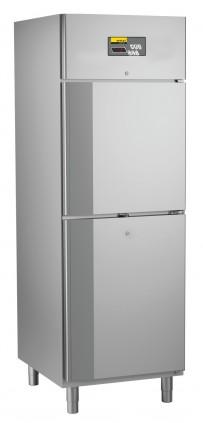 Umluft-Gewerbekühlschrank, steckerfertig, für GN 2/1, mit 2 Halbtüren