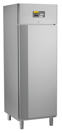 Umluft-Gewerbekühlschrank, steckerfertig, für GN 2/1, Auflagerippen in die Seitenwände integriert