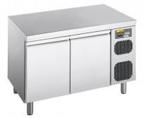 Kühltisch, steckerfertig, mit 2 Türen, für GN 1/1 Tiefe: 700 mm, Korpushöhe: 650 mm