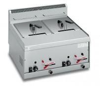 Doppelfriteuse Gas 600 x 600 x 290 mm,