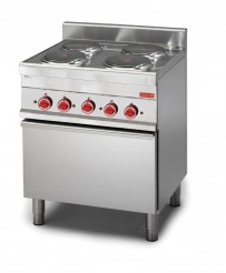 Gastro M Elektroherd mit 4 Kochplatten und elektrischem Konvektionsofen
