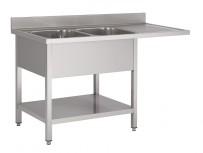 Gastro M Spültisch mit Platz für Geschirrspüler 1600x700x850mm