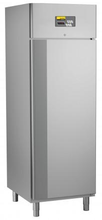Umluft-Gewerbetiefkühlschrank, steckerfertig, für GN 2/1, Auflagerippen in die Seitenwände integriert