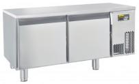Unterbautiefkühltisch, steckerfertig, mit 2 Türen Tiefe: 630 mm, Korpushöhe: 460 mm, für GN 1/1