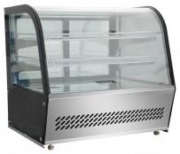 Heiße Theke 873x570x670mm, 160 L, Glas-Schiebetüren hinten,
