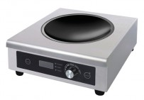 Induktions-Wokherd, 335x380x120 mm, 230 V, 50 Hz,
