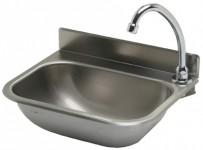 Handwaschbecken 380x290 mm, Edelstahl,