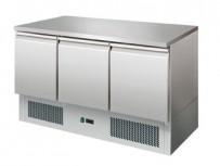 Kühltisch, 1365x700x850 mm, 3 Türen, Temp. +2°/+8°C,