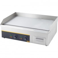 GREDIL Elektro-Griddleplatte, glatt, 3,6 kW, Abmessung 640 x 440 x 175 mm (BxTxH)